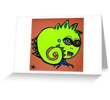 le petit monstre Katie Greeting Card