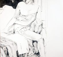 girl on bed, 2009 by Thelma Van Rensburg