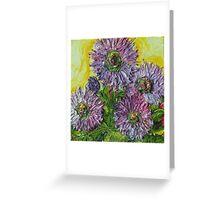 Purple Wild Bergamon Greeting Card