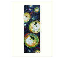 Tall Thin Fireflies Art Print