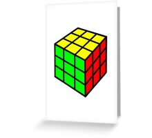 colorful rubix cube Greeting Card