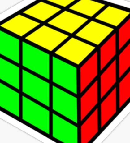 colorful rubix cube Sticker