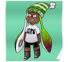 Inkling Girl - Green/Red Poster