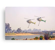 Helitankers Approaching Champion Lakes  Canvas Print