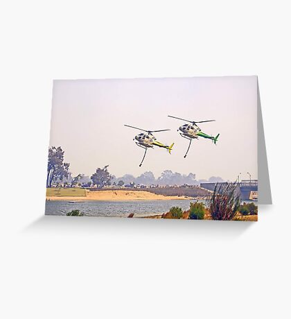 Helitankers Approaching Champion Lakes  Greeting Card