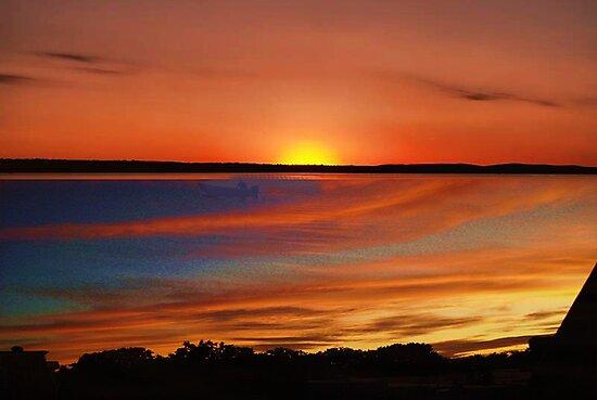 Orange Sunset by Mistyarts