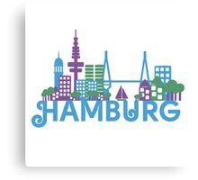 Skyline Hamburg Canvas Print