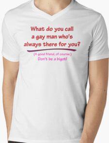 BIGOT:  GAY FRIEND Mens V-Neck T-Shirt