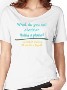 BIGOT:  LESBIAN PILOT Women's Relaxed Fit T-Shirt