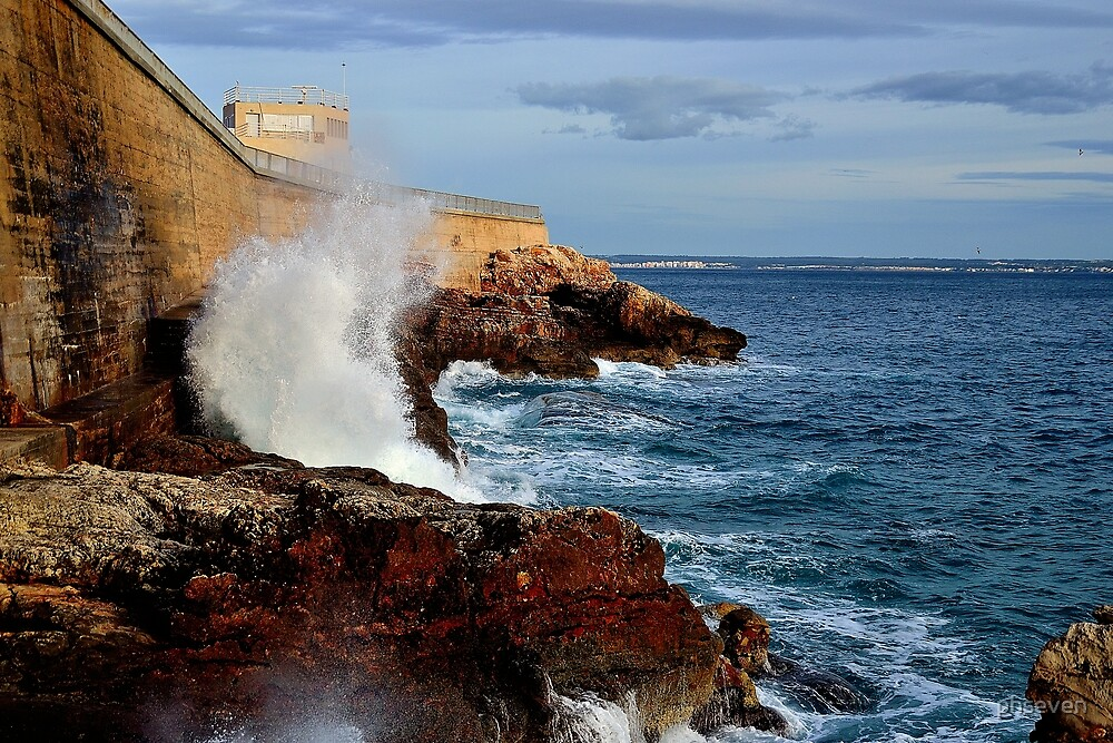 Harbour Wall I colour by phseven