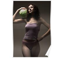 girl with cabbages Poster