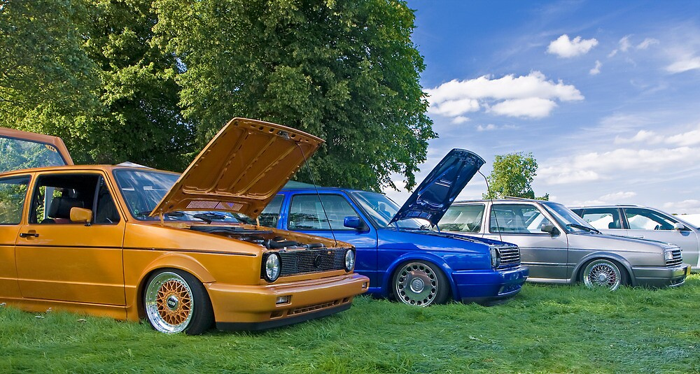 VW Mk2 Golf's at Edition 38 show 2010 by Gareth Spiller