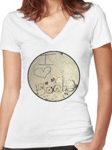 I Heart Boobies Tee Women's Fitted V-Neck T-Shirt