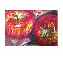Red Beautiful Apples Art Print