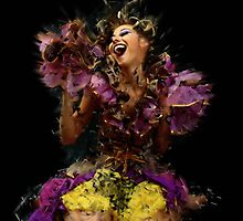 Merry sparkling girl by Evgeniy Lankin