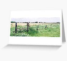 Barbwire in South Dakota Greeting Card