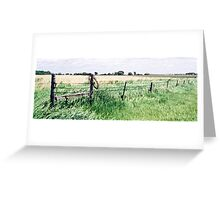 Barbwire in South Dakota Greeting Card