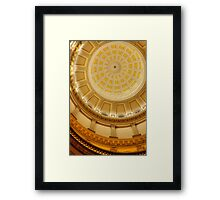 Under the Dome (State Capitol Building, Denver, Colorado) Framed Print