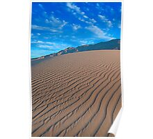 Chocolate Sand Dunes (Death Valley, California) Poster