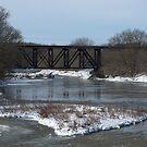 Rail Bridge Over The Conestogo River by jules572