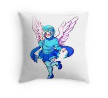 Winged Vivi Throw Pillow