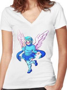 Winged Vivi Women's Fitted V-Neck T-Shirt