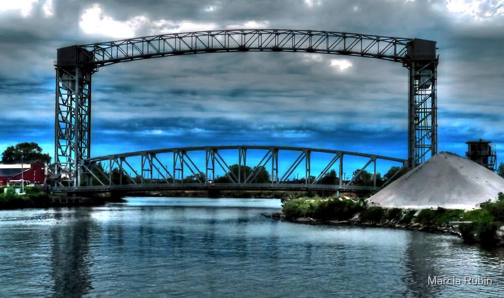 Railroad Bridge in the Flats by Marcia Rubin