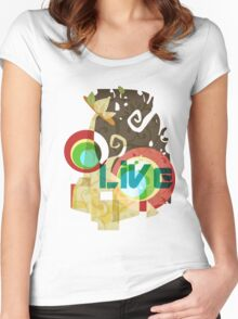 Abstract Universe's Scenery Graphic T-shirt Women's Fitted Scoop T-Shirt