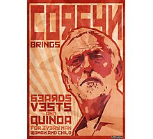 Corbyn Brings Beards, Vest and Quinoa Photographic Print