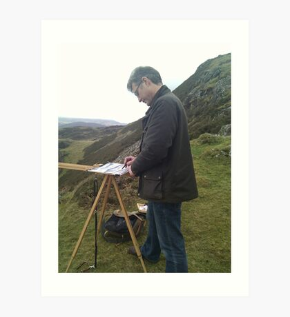 Painting on location, Wales (2) Art Print