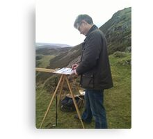 Painting on location, Wales (2) Canvas Print