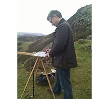 Painting on location, Wales (2) Photographic Print
