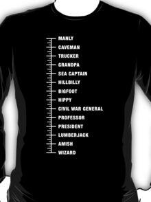 Beard Length Chart T-Shirt