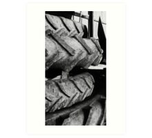 stacked tires Art Print