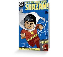 Lego Shazam! Greeting Card