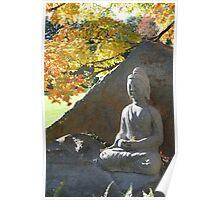 Buddha in Fall Poster
