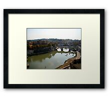 Just Around the River Bend Framed Print