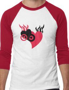 Hearts on Fire Men's Baseball ¾ T-Shirt
