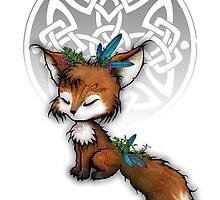 Celtic Spirit Fox by Leah McNeir