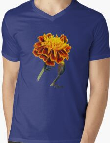 French Marigolds watercolor painting Mens V-Neck T-Shirt