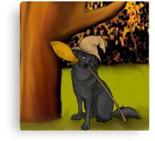 Autumn Pup Canvas Print