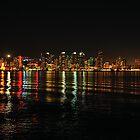 Wave Riding  •  Downtown San Diego  •  Skyline by Richard  Leon