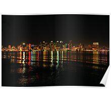 Wave Riding  •  Downtown San Diego  •  Skyline Poster