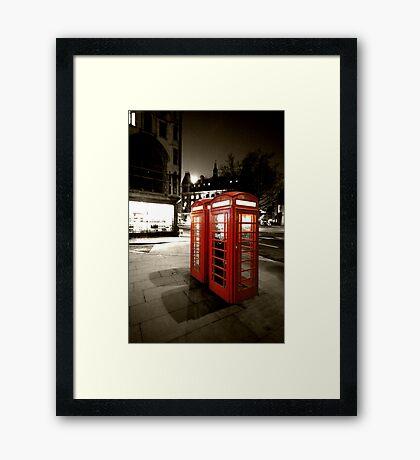 London Phone Booths Framed Print