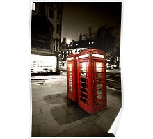 London Phone Booths Poster