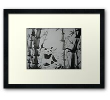 Panda snack time Framed Print