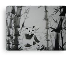 Panda snack time Canvas Print