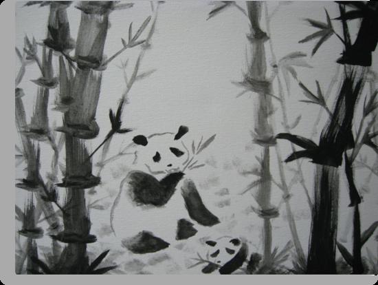 Panda snack time by Christina Hulette