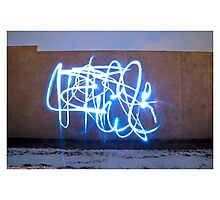 Neon Graffiti Photographic Print