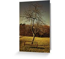 wood, green, and rusted metal 1 Greeting Card